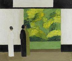 CATHELIN, BERNARD.(1919 - 2004).'Printemps V' 1981. Oil on canvas. 79,5x99 cm