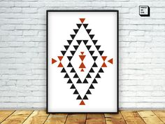 aztec poster aztec decor tribal wall decor navajo by PrintmyInk