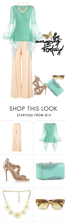 """A New Day"" by poetic-flame ❤ liked on Polyvore featuring Ryan Roche, Oscar de la Renta, Chiara P, Wet Seal and Prada"