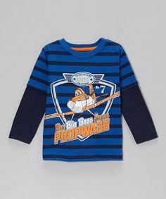 Disney•Pixar Planes Blue Stripe 'Big Boss' Layered Tee - Toddler by Disney•Pixar Planes #zulily #zulilyfinds