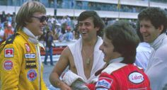 Ronnie Peterson, Patrick Tambay, Gilles Villeneuve and Jody Scheckter. French GP at Paul Ricard, 1978.