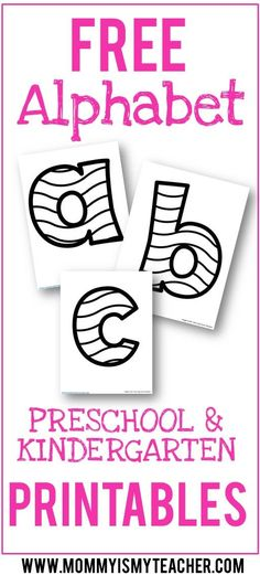 Wow, look at all these free alphabet printables! They are great for preschool activities at home.
