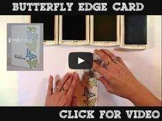 Fun butterfly border card using Stampin ' Up Papillon Potpourri stamp set. Make this cute card in 5 minutes!