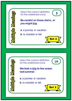 Exploring Multiple Meaning Words - and a Freebie!