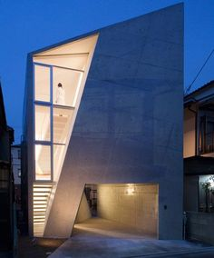 House Folded in Osaka, Japan, by Alphaville #architecture #house #contemporary