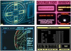 Various computer interfaces Light Grid, Game Interface, Space Pirate, Retro Images, Neon Aesthetic, Retro Futuristic, Space Cat, Sci Fi Movies, Information Technology