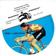 Henk Lubberding - 1981 - sticker van Snackbar Piccolo - Twello.