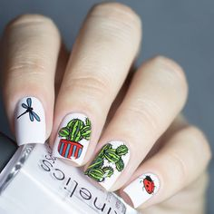 Nice plant #nailstamping shared, more details shared in bornprettystore.com. #naildesign