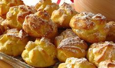 Profiteroles Ingredients: Dough: Water - 1 cup Butter or margarine - 100 g Flour - 1 cup Eggs - pcs. Cocoa - to taste Condensed milk - 1 can Russian Desserts, Russian Recipes, Profiteroles, Easy Cooking, Cooking Recipes, Pastry Cook, Custard Cake, Most Delicious Recipe, Breakfast Dessert