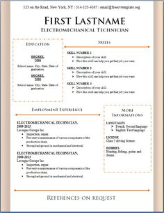 Microsoft Office Resume Template  HttpWwwResumecareerInfo