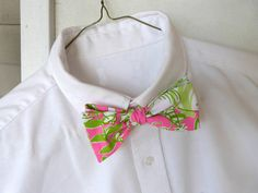 Mens Lilly Pulitzer Bow Tie in Jungle Road by LWhelanDesigns, $36.00 - ring bearer Bow tie