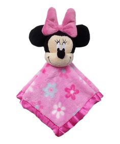Look at this Pink Minnie Mouse Plush Lovey on #zulily today!