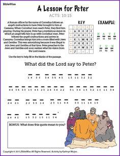 A Lesson for Peter - Kids Korner - BibleWise