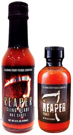 CaJohns Carolina Reaper Combo Pack: TWO amazing Hot Sauces made with the Hottest Peppers in the World: the Carolina Reaper Scorpion!  #CarolinaReaper #HotSauce