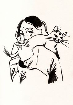 Those feelings Art Print by bmancuso Art Sketches, Art Drawings, Photocollage, Sketch Painting, Aesthetic Art, Cat Art, Art Inspo, Line Art, Character Art