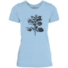 Mintage Wild Nettle Illustration Womens Fine Jersey T-Shirt