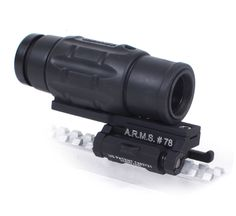 Aimpoint 3X Magnifier with A.R.M.S. #78A Tangent Integrated Tilt Sight Mounting Solutions Plus  Save 10% with Discount Code MSPIN http://www.mountsplus.com/AR-15_Accessories/AR-15_Scope_Rings/SP-003-3X-78A.html #aimpoint