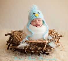 READY Baby Boy Hat Baby Bird Hat Baby Hat with by PamKR on Etsy