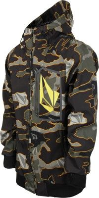 Volcom Claytons Softshell Jacket - military camo - Snowboard Shop > Men's Snowboard Outerwear > Snowboard Jackets > Softshell Snowboard Jackets