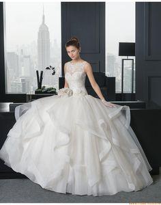 2015 Extravagante Luxuriöse Besondere Brautkleider aus Organza mit Applikation