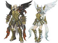 White Knight Chronicles II Jupiter and Minerva sets.