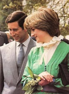 May 9, 1981: Prince Charles with fiancé, Lady Diana Spencer opens a special exhibition at Broadlands, the home of the late Lord Mountbatten.