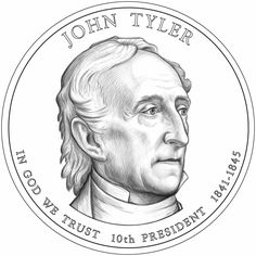 most collectible us  coins   The John Tyler Presidential Dollar Design.