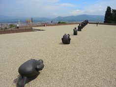"Antony Gormley, ""Human,"" at Fort Belveder, Florence. Photo: Sarah Cascone."