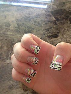Zebra Flare Nails