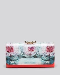 Ted Baker Wallet - Bow Top Cubist Floral Matinee Continental  $150.00