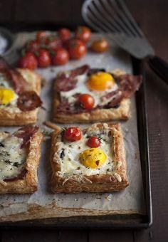 Des tartelettes au bacon et aux œufs