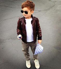 Leather Jacket & Aviator Shades