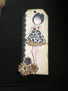 Prima paper doll... Bad coloring of doll but i liked my papers and flowers