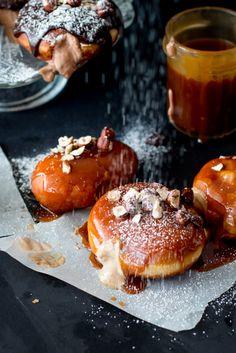 Filled Doughnuts 101: Nutella-Raspberry & Espresso-Banana-Caramel - The…