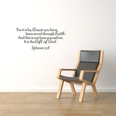 It Is By Grace Vinyl Wall Quote Word Decal by WallStickersDecals, $15.99