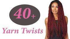 40 + Lovely Yarn Twists for African American Women Sister Locks Hairstyles, Mohawk Hairstyles, Trending Hairstyles, Popular Hairstyles, Black Women Hairstyles, New Natural Hairstyles, Natural Hair Styles, Short Hair Styles, Yarn Braids