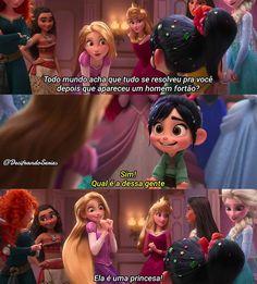 Ela é uma princesa! Disney Pixar, Disney Films, Disney And Dreamworks, Walt Disney, Aurora Disney, Disney Rapunzel, Mean Girls, Sao Memes, Disney Princesses And Princes