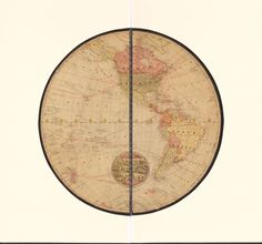 Globe Map of the World, 1900
