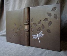 """""""fineblankbooks.com - Blowing Leaves and Blue Dragonfly Journal"""""""