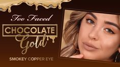 Too Faced Chocolate Gold Palette – Smokey Copper Eye Tutorial Chocolate Bar Palette Looks, Copper Eye, Eye Makeup, Hair Makeup, Chocolate Gold, Gold Palette, Eye Tutorial, Too Faced Makeup, Combination Skin