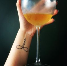 ~WINENOT~ proclaim your true love for wine with an adorable tiny tattoo?