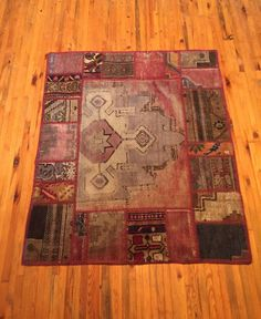 Patchwork Turkish Handmade Rug by RugToGo on Etsy