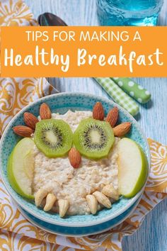 A healthy breakfast can boost metabolism & cognition, prevent overeating & stabilizes blood sugar. Here are tips & meal ideas to make a healthy breakfast. Protein Packed Breakfast, Health Breakfast, Healthy Breakfast Recipes, Healthy Recipes, Breakfast Items, Breakfast Bowls, Breakfast For Kids, Healthy Meals For Kids, Healthy Baking