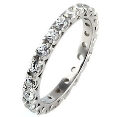 Skyla: 1.26ct Ice on Fire Russian CZ Stackable Eternity Band Ring - Trustmark Jewelers