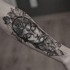 buddha tattoo design by @junnionunes #NeatTattoosIWouldHave