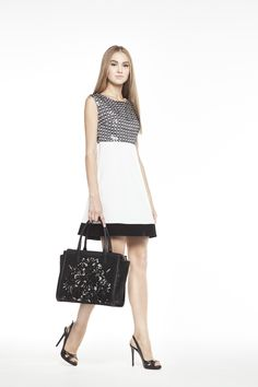 Georges Hobeika GH Spring-Summer 2015 Look 33 Short Black And White Dress