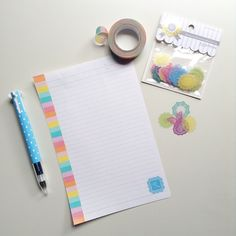 DIY Pretty Pen Pal Letter Paper with rainbow washi