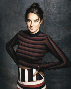 Shailene Woodley inside the Vanity Fair portrait studio at the 2016 Toronto International Film Festival, photographed by Justin Bishop