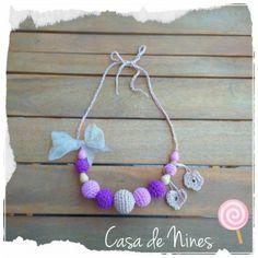Crochet On!  Collar de lactancia hecho a mano a crochet con materiales naturales 100%  http://keepcalmcrocheton.artesanum.com