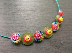 Button Necklace  Layered Button Choker £10.50